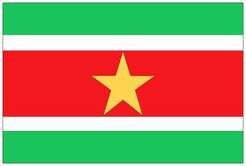 Fahne: Surinam/ flag: Surinam