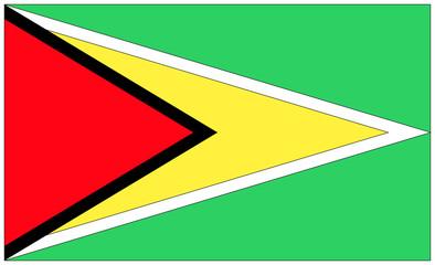 Fahne: Guyana/ flag: Guyana