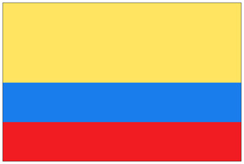 Fahne: Kolumbien/ flag: Colombia