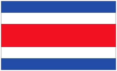 Fahne: Costa Rica/ flag: Costa Rica