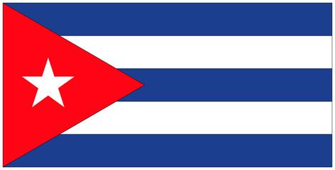 Fahne: Kuba/ flag: Cuba