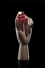 wooden mannequin hand