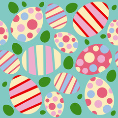 Easter vector seamless pattern
