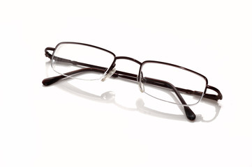Metallic-rimmed eyeglasses