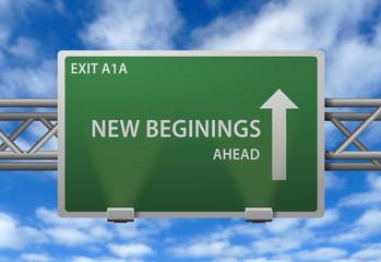 Highway Signpost - New Beginings
