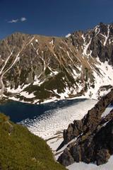 Fototapete - Czarny Staw in polish Tatra mountains