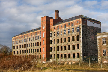 the old abandoned factory mill