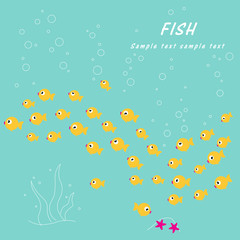 Cute Yellow Swimming Fish