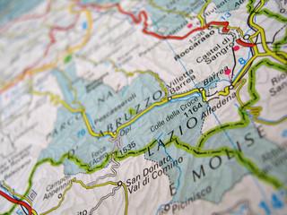 Cartina Parco Nazionale Abruzzo