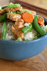 Chicken and Vegetables over Rice
