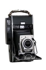 ancien appareil photo sur fond blanc.