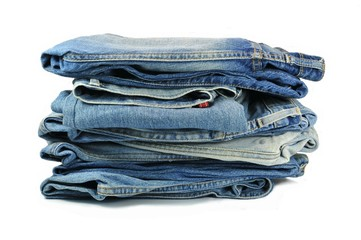 Verwaschene Blue Jeans