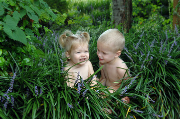 Babies in the Garden