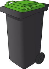 Mülltonne grün