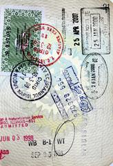 Italian passport us, brasil,hongkong and turkey stamps