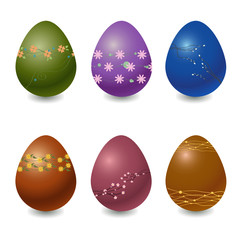 easter eggs decorated with beautiful floral elements