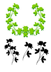 vector shamrock elements and frame