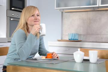 Breakfast Coffee In The Kitchen