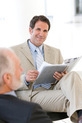 Businessman having discussion