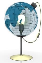 terre lampe