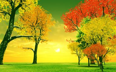 Beautiful autumn sunset