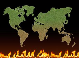green world burning
