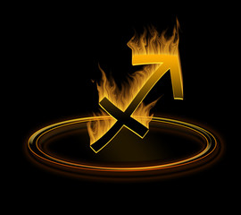 hot zodiac symbol = the sagittarius