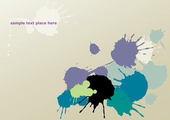 vector background with splashes