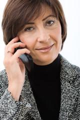 Senior businesswoman talking on mobile