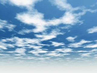 3d blue sky background with white clouds