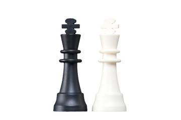 Chess figures in the studio