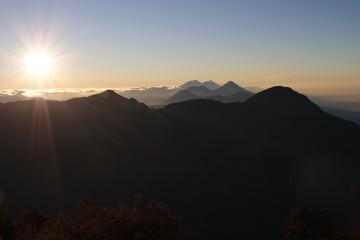 Vulkankette im Hochland Guatemalas, Blick vom Santa Maria