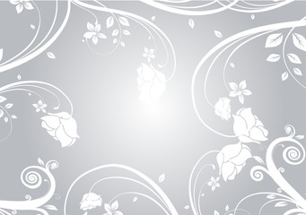 argent floral blanche