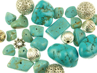 Turquoise and Silver Beads