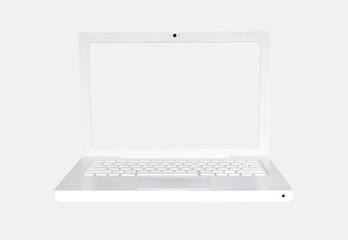Clean White Laptop