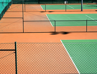 empty tennis court after the game