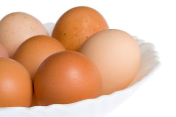 eggs on white plate