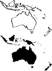 Map of Australia vector illustration