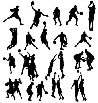 basketball silhouettes collection