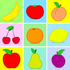 Fruits doodle