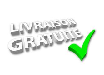 """""""Livraison Gratuite"""" (3D - avec coche)"""