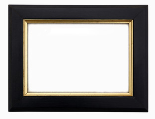 Black & Gold Wooden Rectangular Picture Frame