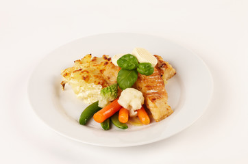 Viktoriabarschfilet mit Kartoffelgratin