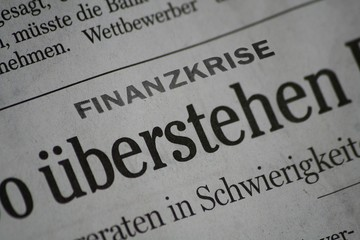 Fotobehang Kranten die Finanzkrise überstehen