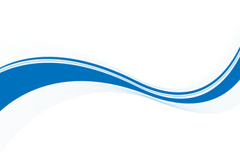Wellen Abstrakt in Blau
