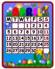 calendar april 2010