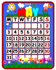 calendar may 2010