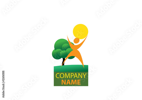 quotgreen sun company logoquot stock image and royaltyfree