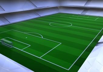 Fussballstadion Innenperspektive