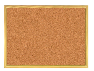 Cork board isolated on white.